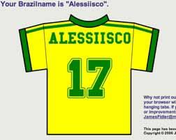 La mia maglietta del Brasile