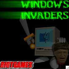 la schermata di inizio di windows invaders